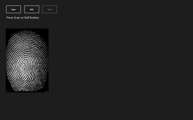Futronic ScanAPI Demo Application(CustomDevice) for Windows 8