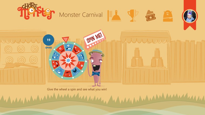 For each chore completed, kids get a ticket to the Monster Carnival