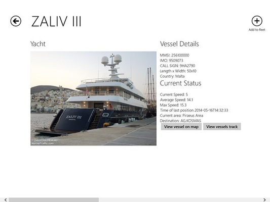 Vessel Details