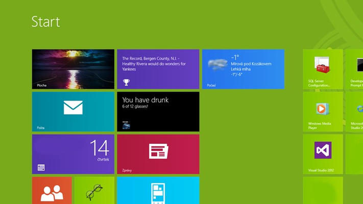 Live Tile with current status