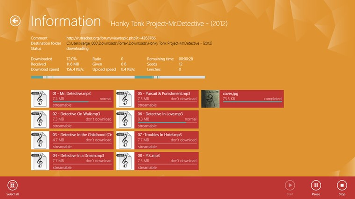 Torrex Pro for Windows 8