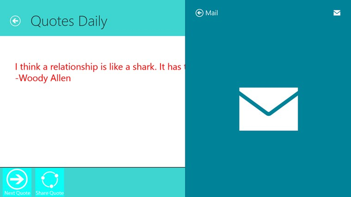 Sharing the Quote using Mail App