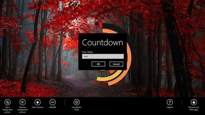 The Countdown Timer dialog box