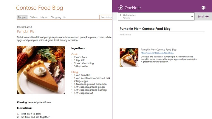 OneNote for Windows 8