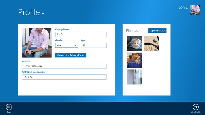 Create and maintain your user profile.