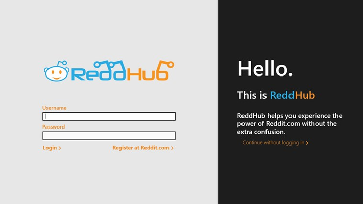 Reddit on ReddHub for Windows 8