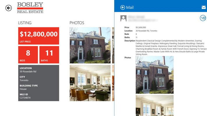 Easily share listings with family and friends