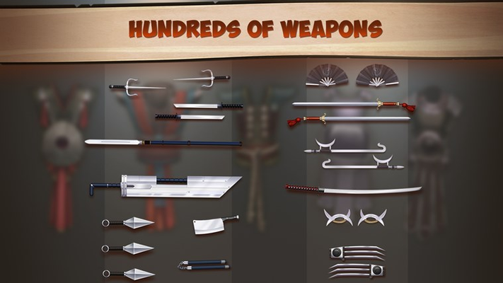 Hundreds of weapons