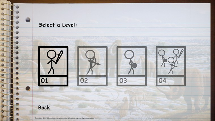 Level select for Stone Age