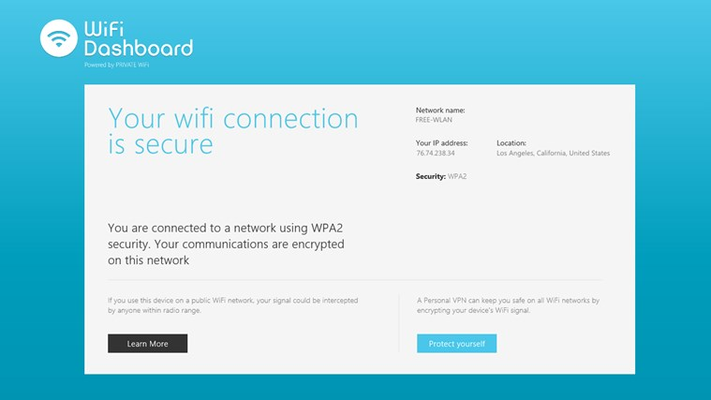 WiFi connection information: Secure