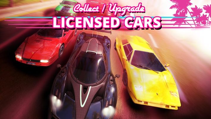 Collect and upgrade high performance licensed cars!