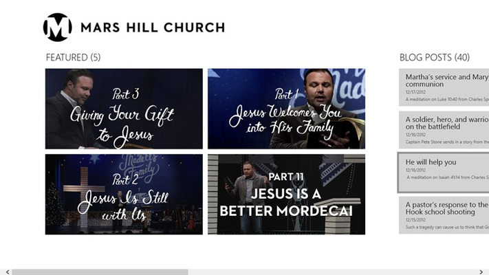 Main Page featured sermons