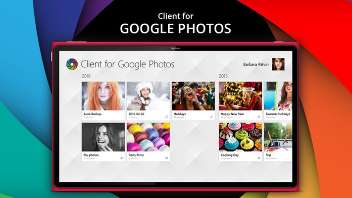 Client for Google Photos for Windows 8
