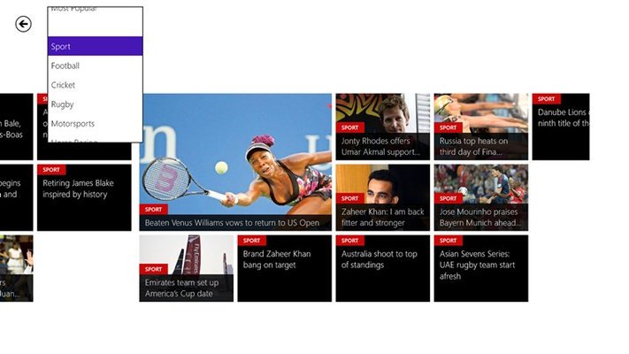 News is organized in categories and subcategories