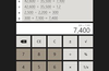 Calculator with history:  Portrait mode.