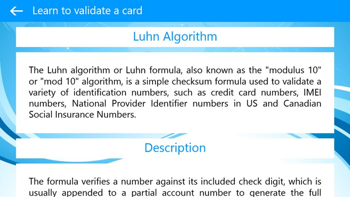 Learn to validate a Credit Card - Luhn Algorithm