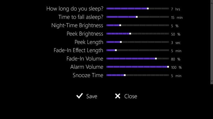 Fully customizable alarm settings.