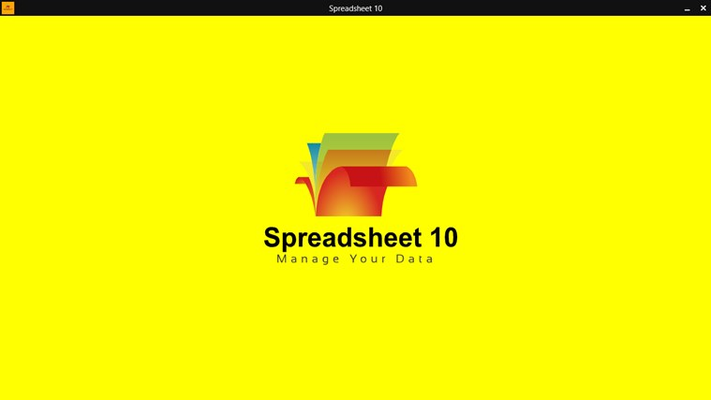 Splashscreen of Spreadsheet 10