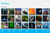 Pictures in thumbnail view, Select pictures and play full screen slideshow.