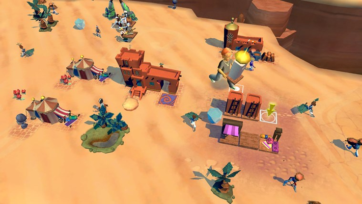 Build cities in the desert, forest and ice realms!