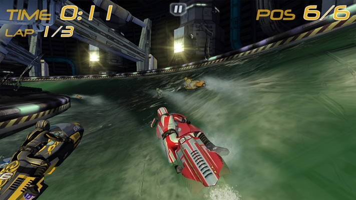 Unlock 12 futuristic race tracks and 7 screaming fast jet skis.
