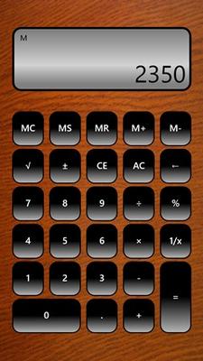 Standard Calculator in portrait mode