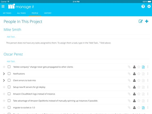 See what tasks are assigned to everyone in the project
