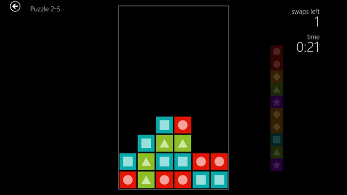 Clear the board with limited moves in Puzzle Mode