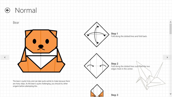Just Origami Bear and instructions