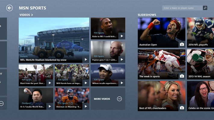 MSN Sports for Windows 8