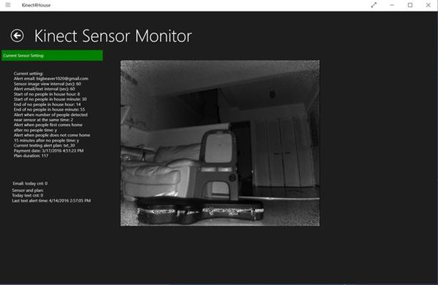 Kinect sensor running