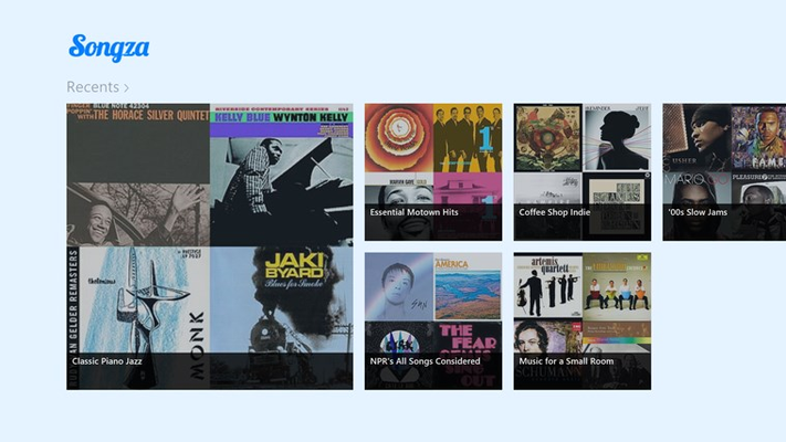 Songza for Windows 8