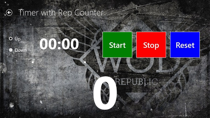 Timer with rep counter