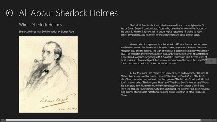 one of the content about sherlock holmes