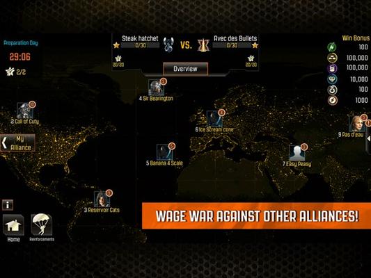 - Wage war against other alliances