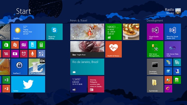 Live Tile with image of the day