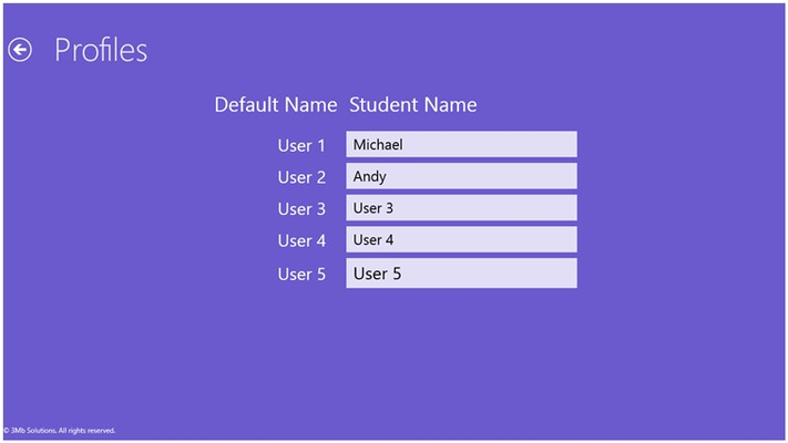 Student Profile Page