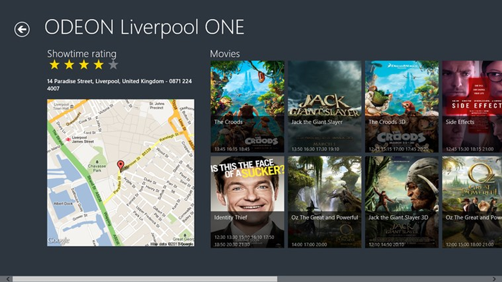Movie ShowTime for Windows 8