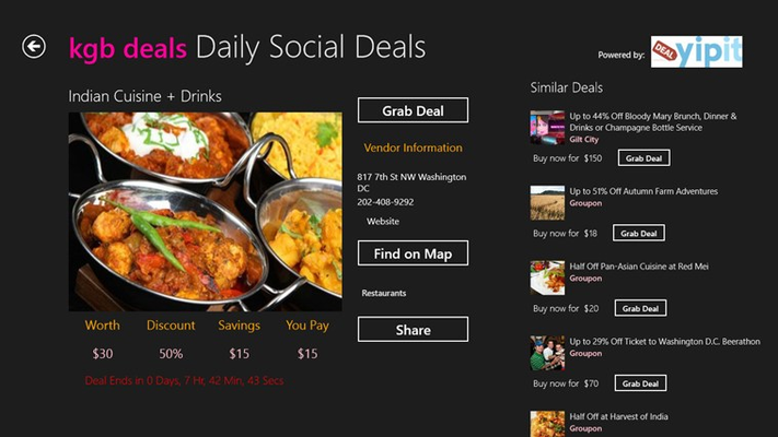 click/tap on the deal to look at the details, find similar deals too