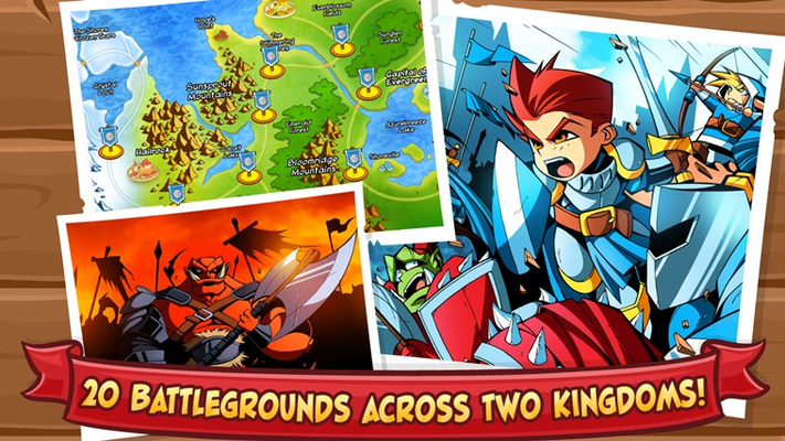 20 battlegrounds across two kingdoms!
