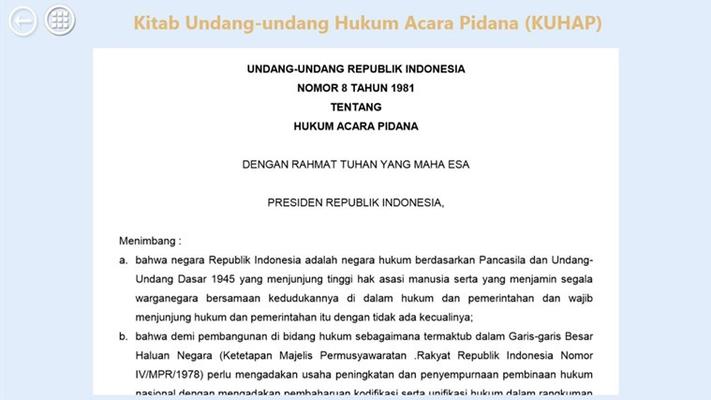 Setiap data perundangan yang dimuat dalam aplikasi disesuaikan dengan  data nyata dari perundangan pemerintahan Indonesia