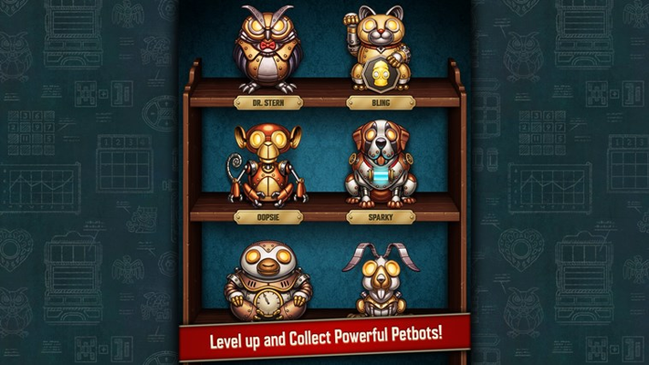 Level up and Collect Powerful Petbots!