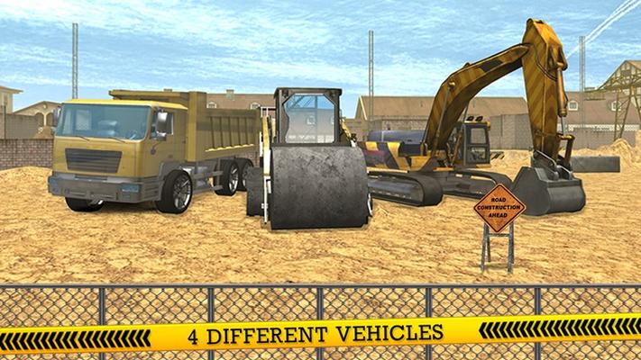 City Construction Roads Builder 3D - Excavator Sim