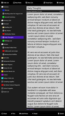 -My Notes- for Windows 8