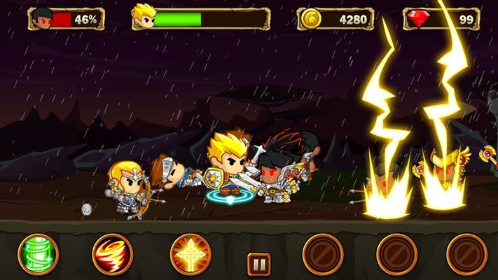 Intense battle with BOSS!