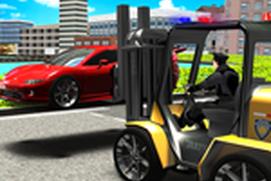 Police Forklift vs Car Traffic - Roads No Parking