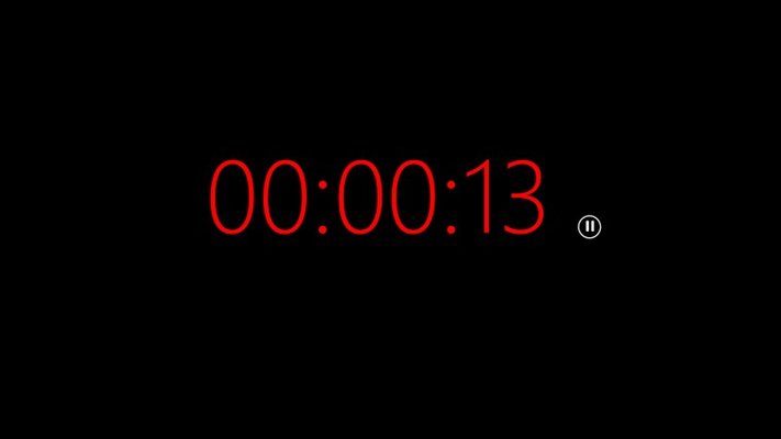 Clock is 'red' indicating less than 5 minutes remaining