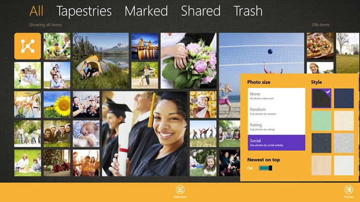 View your photo collections based on what matters to you.