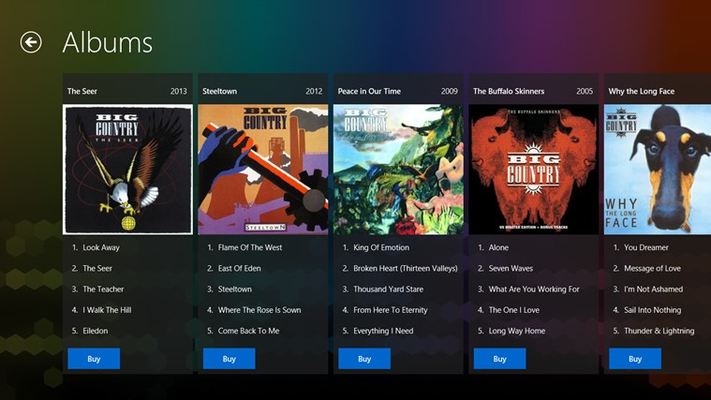 Big Country FANfinity for Windows 8