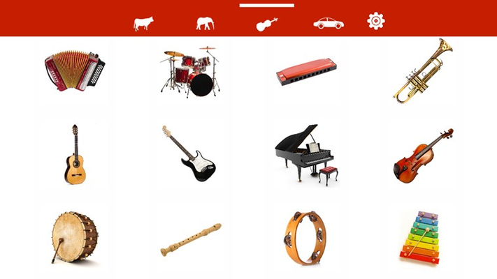 Lots of musical instruments